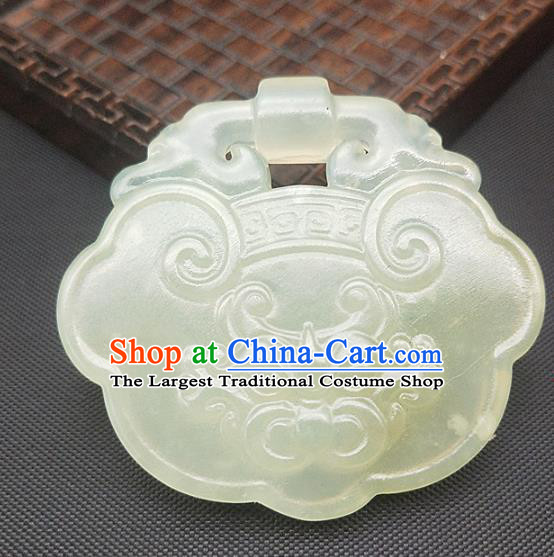 Chinese Handmade Jade Necklace Craft Pendant Hsiuyen Jade Label Carving Monster Jade Accessories