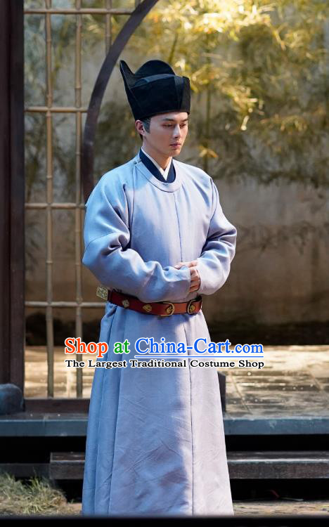 Ancient Chinese Head Eunuch Song Dynasty Historical Costumes and Hat Drama Serenade of Peaceful Joy Zhang Maoze Garment