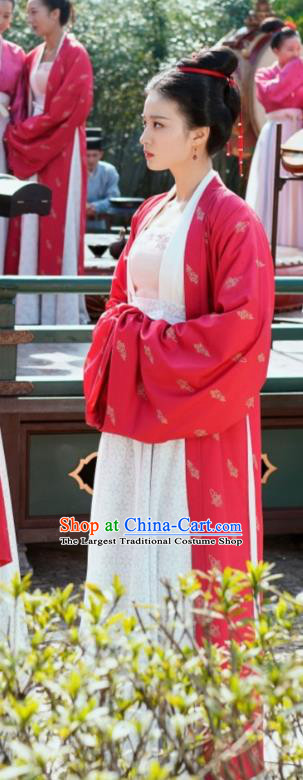 Ancient Chinese Dance Historical Costumes Apparel and Headpieces Drama Serenade of Peaceful Joy Song Dynasty Noble Consort Zhang Garment