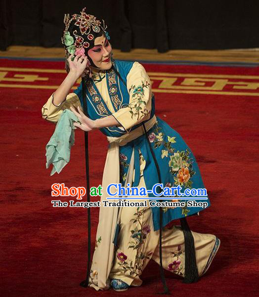 Traditional Chinese Peking Opera Young Lady Dress Apparel The Dream in Lady Chamber Garment Maid Costumes and Headdress