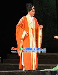 Chinese Shaoxing Opera Niche Embroidered Garment Li Qingzhao Apparels Young Men Zhao Mingcheng Costumes and Hat