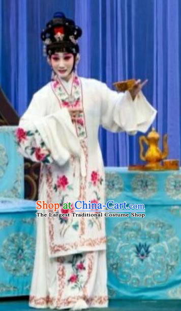 Chinese Traditional Peking Opera Hua Tan Zhu Yingtai Dress Apparel Butterfly Fairy Tale Rich Lady Costumes Garment and Headpieces