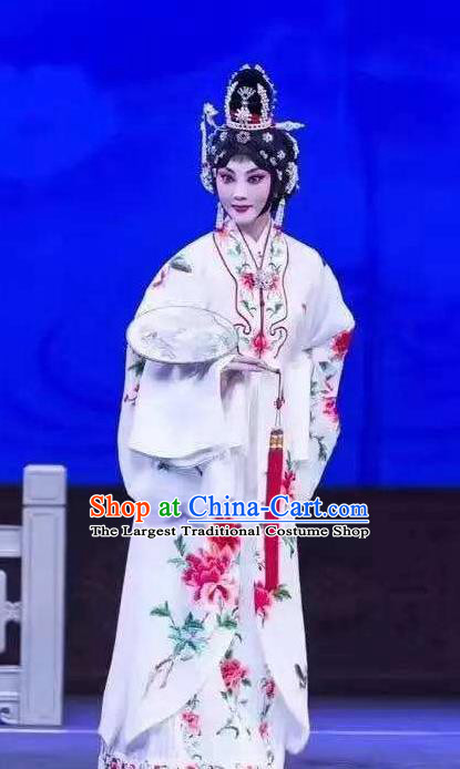 Chinese Traditional Peking Opera Butterfly Fairy Tale Hua Tan Zhu Yingtai Dress Rich Lady Costumes Garment Apparel and Headpieces