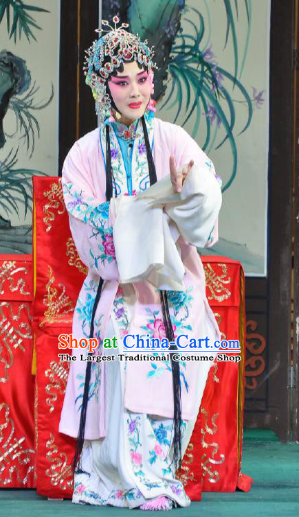 Traditional Chinese Peking Opera Female Actor Garment Dress Return of the Phoenix Hua Tan Costumes Pink Cape and Headdress