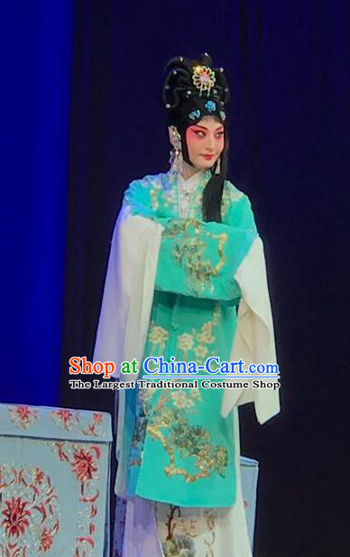 Chinese Traditional Peking Opera Female Role Garment Apparel Butterfly Fairy Tale Hua Tan Zhu Yingtai Dress Costumes and Headpieces