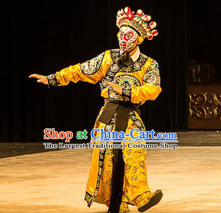 Chinese Peking Opera Takefu Sun Wukong Costumes Garment Havoc In Heaven Wusheng Monkey King Apparels and Headwear