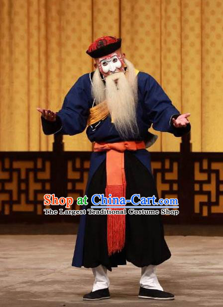 Chinese Beijing Opera Chou Role Garment Peking Opera Susan Left Hongtong County Clown Apparels Costumes and Hat