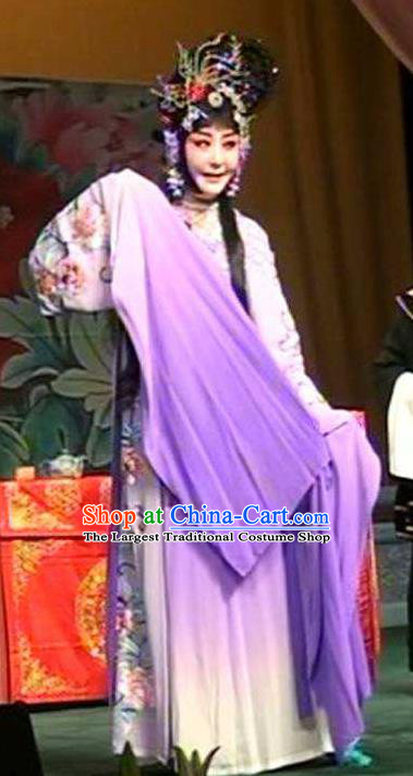 Chinese Traditional Peking Opera Goddess Costumes Stealing the Spirit Bell Apparels Hua Tan Garment and Headpieces