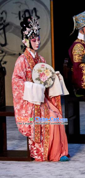Traditional Chinese Peking Opera Hua Tan Apparels Garment The Revenge of Prince Zi Dan Imperial Consort Dress Costumes and Headwear