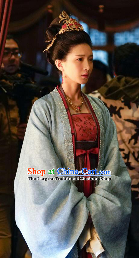 Ancient Chinese Empress Cao Danshu Historical Garment Drama Serenade of Peaceful Joy Song Dynasty Queen Costumes and Headwear