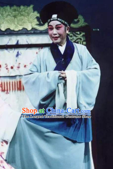Chinese Peking Opera Poor Scholar Costumes Selling Youlang Exclusive to the Flower Leader Qin Zhong Kun Opera Young Men Apparels Garment and Hat