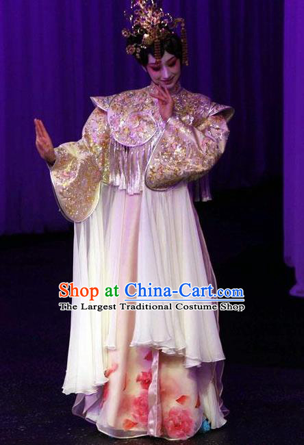 Chinese Kun Opera The Fragrant Companion Hua Tan Apparels Costumes Peking Opera Diva Young Lady Dress Garment and Headdress