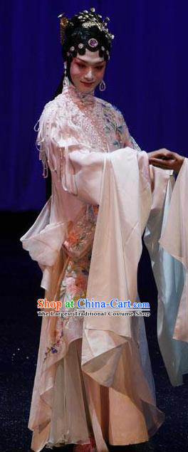 Chinese Kun Opera The Fragrant Companion Apparels Costumes Peking Opera Hua Tan Dress Garment and Headwear