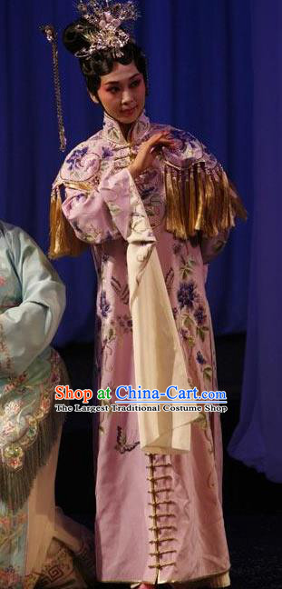 Chinese Kun Opera Patrician Female The Fragrant Companion Apparels Costumes Peking Opera Hua Tan Noble Lady Dress Garment and Headdress