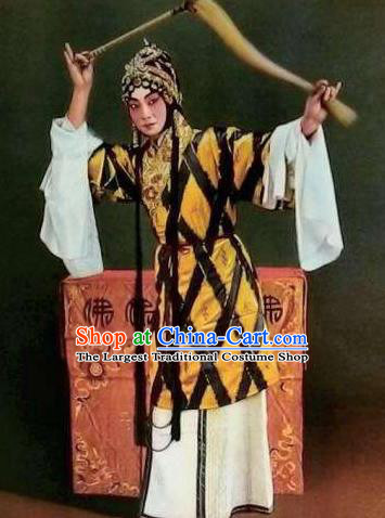 Chinese Kun Opera Taoist Nun Dress Costumes Si Fan Peking Opera Dan Female Role Se Kong Garment and Headdress