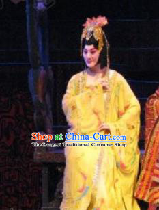 Chinese Beijing Opera Princess Consort Hanfu Dress Costumes Zeng Houyi Peking Opera Hua Tan Garment Apparels and Hair Ornaments