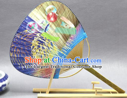 Handmade Chinese Printing Fireworks Paper Fans Traditional Classical Dance Palace Fan for Women
