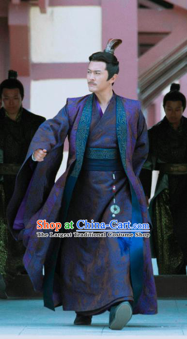 Chinese Ancient Commander of Jinyiwei Guards Shen Zhong Drama Qing Yu Nian Joy of Life Replica Costume and Headpiece Complete Set