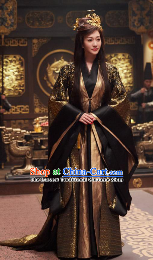 Chinese Ancient Drama Elder Princess Li Yunrui Qing Yu Nian Joy of Life Replica Costume and Headpiece Complete Set