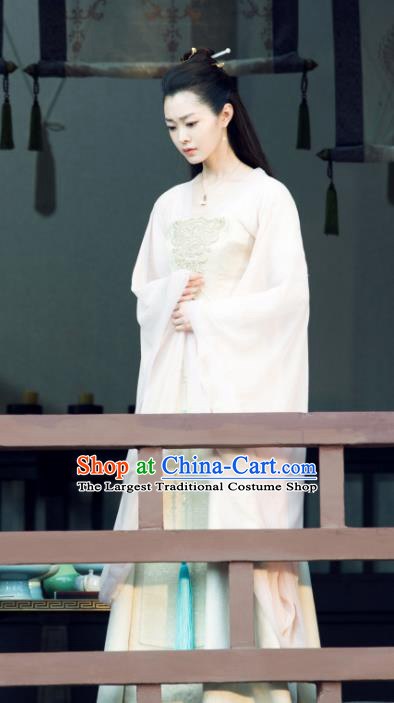 Chinese Ancient Noble Lady Fan Ruoruo Drama Qing Yu Nian Joy of Life Replica Costume and Headpiece Complete Set