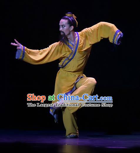 Chinese Traditional Dance Si Lu Hua Yu Male Clothing Classical Dance Stage Performance Costume for Men