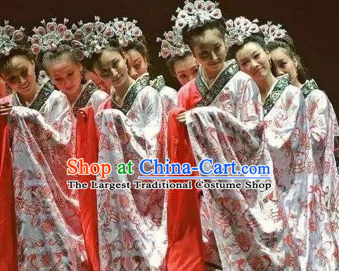 Chinese Traditional Dance Yun Wen Clouds Han Dynasty Dress Classical Dance Stage Performance Costume for Women