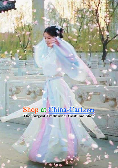 Chinese Traditional Dance Ban Hu Sha Hanfu Dress Classical Dance Stage Performance Costume for Women
