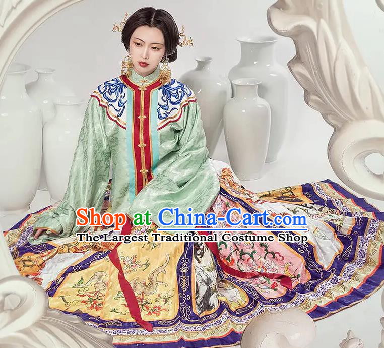 Chinese Dance National Treasure Ming Dynasty Hanfu Dress Traditional Classical Dance Stage Performance Costume for Women