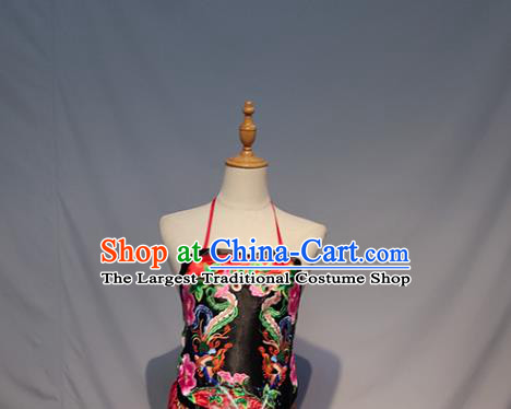 Chinese A Glimpse of the Beauty Folk Dance Outfits Traditional Fan Dance Stage Performance Costume for Women