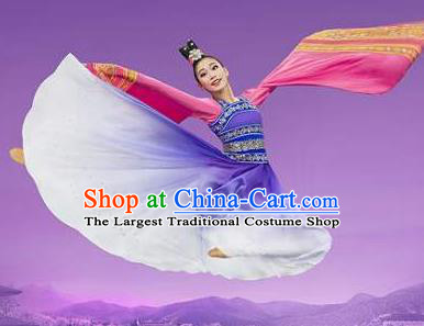 Chinese Shen Yun Classical Dance Hanfu Dress Traditional Dance Stage Performance Costume for Women