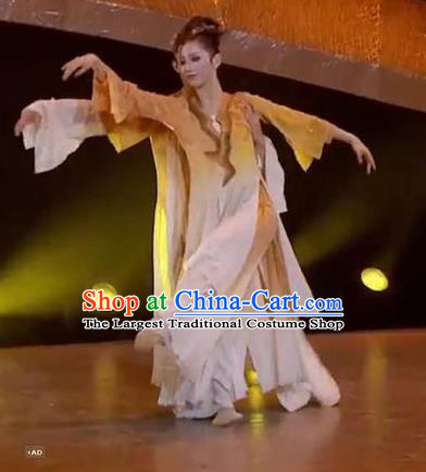 Chinese Zhi Qiu Classical Dance Dress Traditional Dance Stage Performance Costume for Women