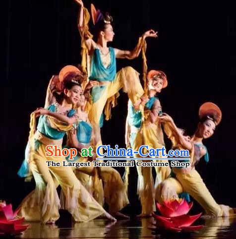 Chinese Yuan Qi Dunhuang Dance Flying Apsaras Clothing Traditional Classical Dance Stage Performance Costume for Women
