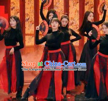 Chinese MangZhong Dance Clothing Traditional Classical Dance Stage Performance Costume for Women
