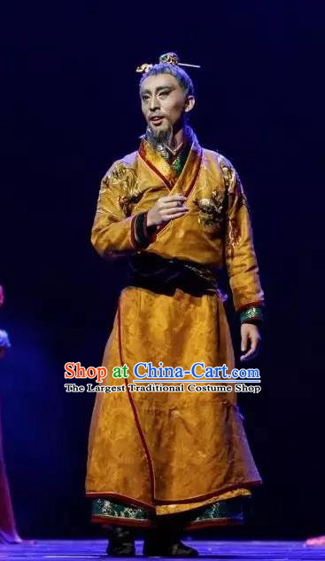 Chinese Traditional Dance Chang Hen Tang Dynasty Emperor Clothing Classical Dance Stage Performance Costume for Men