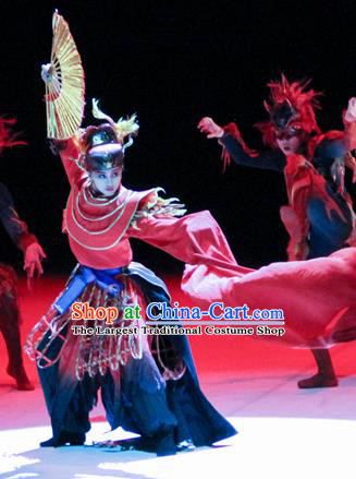 Chinese Fen Mo Stage Performance Dance Red Dress Traditional Classical Dance Costume for Women