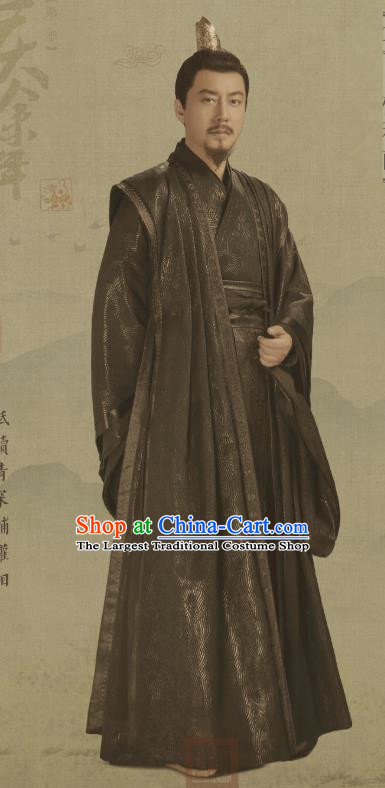 Chinese Ancient Chancellor of Qing Lin Ruofu Drama Qing Yu Nian Joy of Life Replica Costume and Headpiece Complete Set