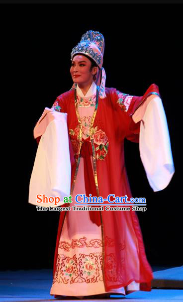 Chinese Yue Opera Niche Garment Costumes and Headwear Shaoxing Opera Xiaosheng Young Male Apparels Scholar Robe