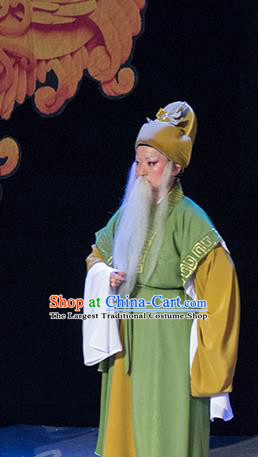 Chinese Yue Opera Elderly Male Costumes and Headwear Shaoxing Opera Palm Civet for Prince Old Man Apparels Garment