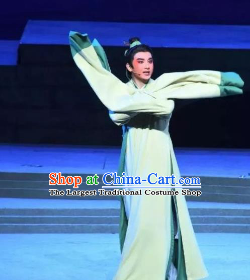 A Song of The Travelling Son Chinese Yue Opera Xiaosheng Apparels and Headwear Shaoxing Opera Young Male Garment Scholar Costumes