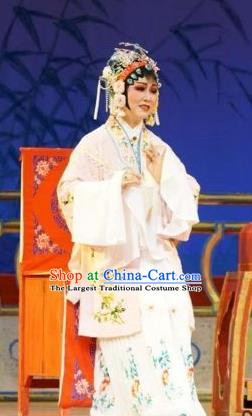 Chinese Shaoxing Opera Hua Tan Shen Gumei Dress Garment and Headpieces Lai Marriage Yue Opera Actress Apparels Costumes