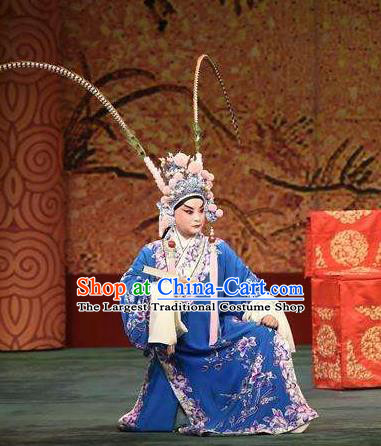 Chinese Historical Beijing Opera Young Men Apparels Zhu Lian Zhai Peking Opera Niche Garment Costumes and Headpiece