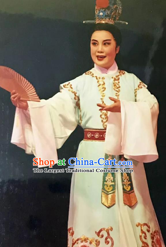 Mo Chou Nv Chinese Yue Opera Xiaosheng Costumes and Headwear Shaoxing Opera Young Male Garment Scholar Apparels