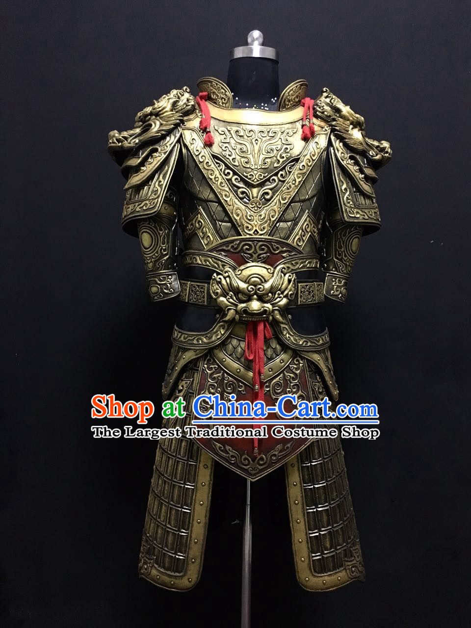 Chinese Han Dynasty Soldier Armor Apparels Historical Costumes Ancient General Armor Suits