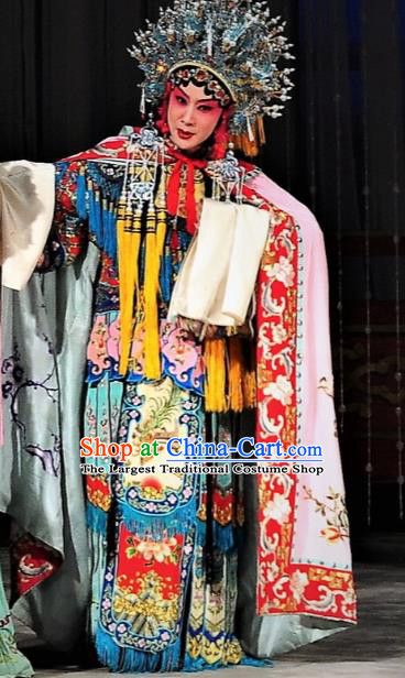 Chinese The Palace of Eternal Youth Kun Opera Consort Yang Costumes and Hair Accessories Peking Opera Hua Tan Garment Dress Apparels