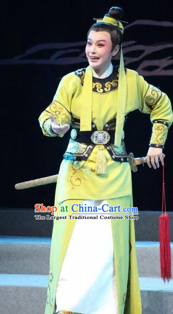 Chinese Yue Opera Wusheng Costumes and Headwear Shaoxing Opera Young Male Takefu Garment Apparels
