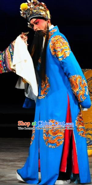 Chinese Classical Kun Opera The Palace of Eternal Youth Tang Emperor Costumes Garment and Hat Peking Opera Old Man Li Longji Apparels