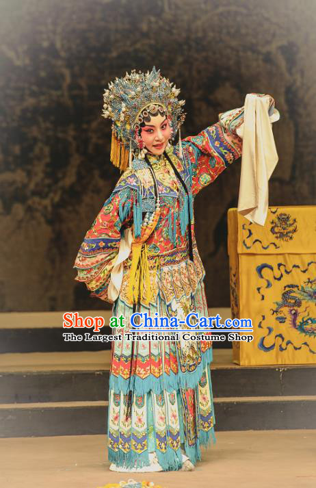 Chinese Kun Opera Consort Yang Dress The Palace of Eternal Youth Actress Costumes Peking Opera Hua Tan Apparels Garment and Headdress