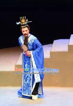 Xi Ma Qiao Chinese Yue Opera Elderly Male Costumes and Headwear Shaoxing Opera Laosheng Official Apparels Garment