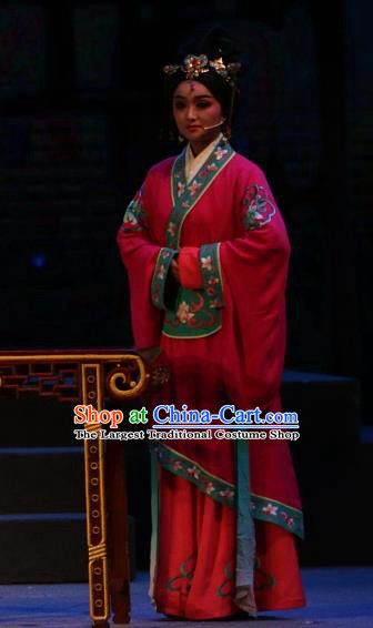 Chinese Shaoxing Opera Palace Lady Dress Costumes and Headpieces Han Gong Yuan Yue Opera Court Maid Garment Apparels