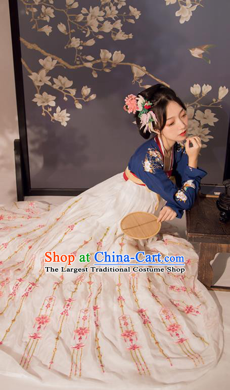 Chinese Ancient Embroidered Hanfu Dress Court Lady Historical Costumes Traditional Tang Dynasty Garment